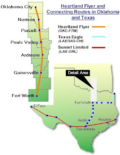 Amtrak Heartland Flyer Route