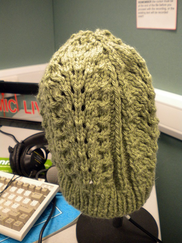 how to finish a slouchy hat with k2 p2 pattern