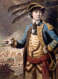 Benedict Arnold color portrait painting