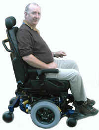 A powerchair user