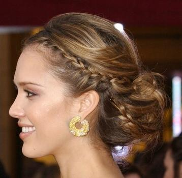 Jessica Alba Braided Updo Goddess Braids Styles When it comes to choosing