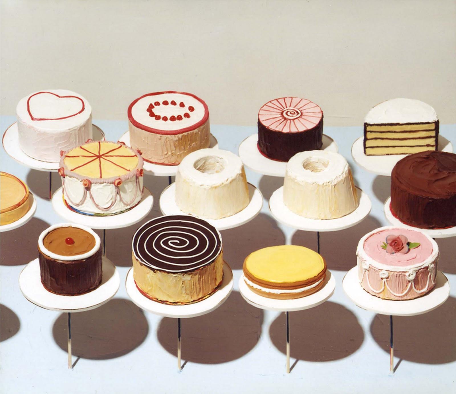 porslend Wayne Thiebaud cakes