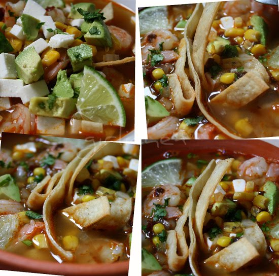 10-Minute Shrimp and Tortilla Soup | www.girlichef.com