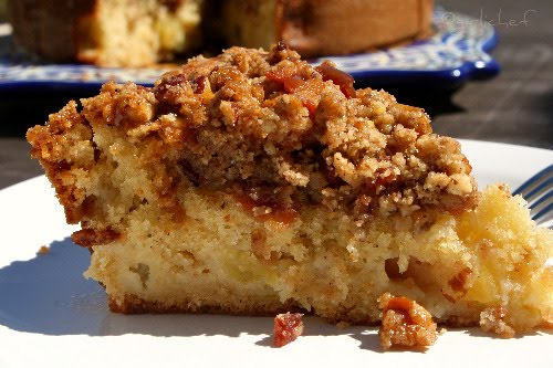 Apple Coffee Cake w/ Pecan & Bacon Streusel