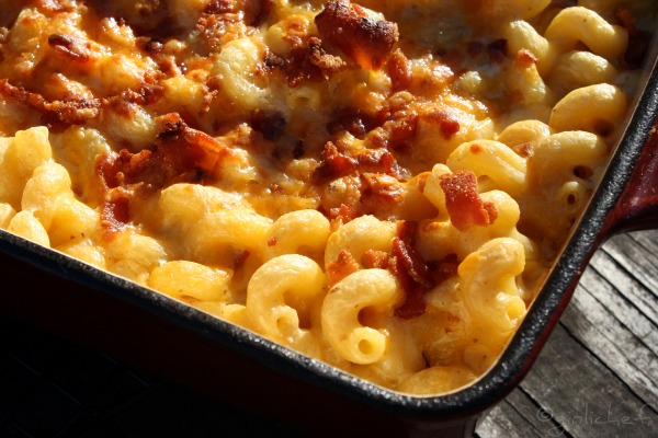 "girlichef: Four Cheese and Bacon ""Macaroni"""