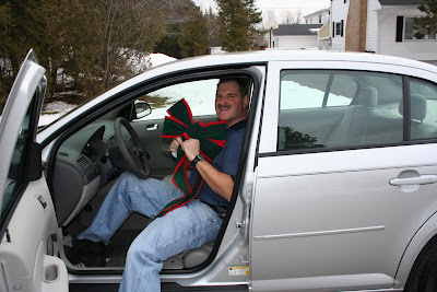 Excited Daddy with his new car