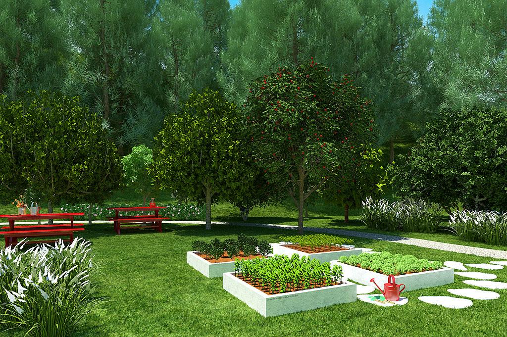 horta jardim e pomar: cidade onde todo o morador tem uma horta. – Instituto Ecoação