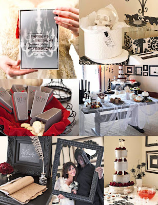 This Halloween Wedding party theme has me way more excited than one person