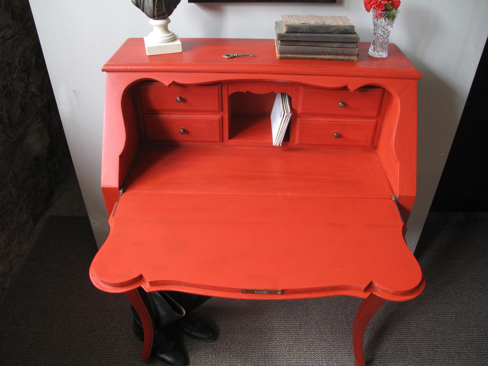 Petree Repurposed Lois 39 Million Dollar Red Desk