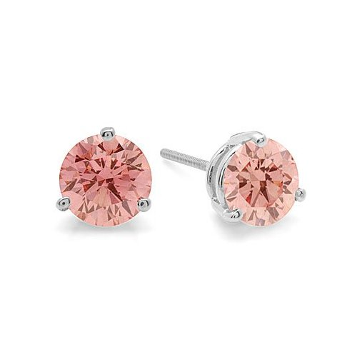 1 00 Ct Pink Diamond Vs1 Stud Earrings