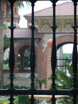 Brick Arches & Wrought Iron