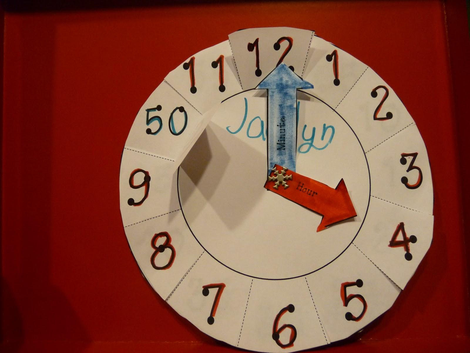 Модель циферблата часов для детей из бумаги своими руками 100