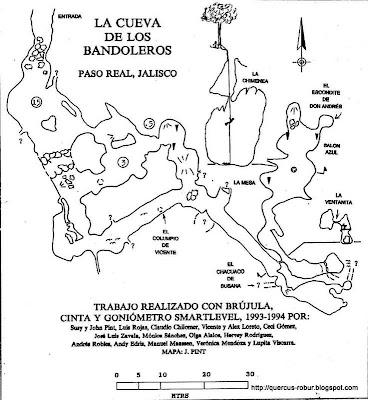 Mapa de la Cueva Bandoleros por John Pint