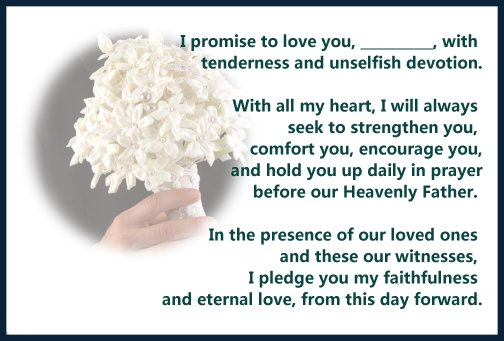 Awesome Sample Of Wedding Vows Ideas - Styles & Ideas 2018 ...