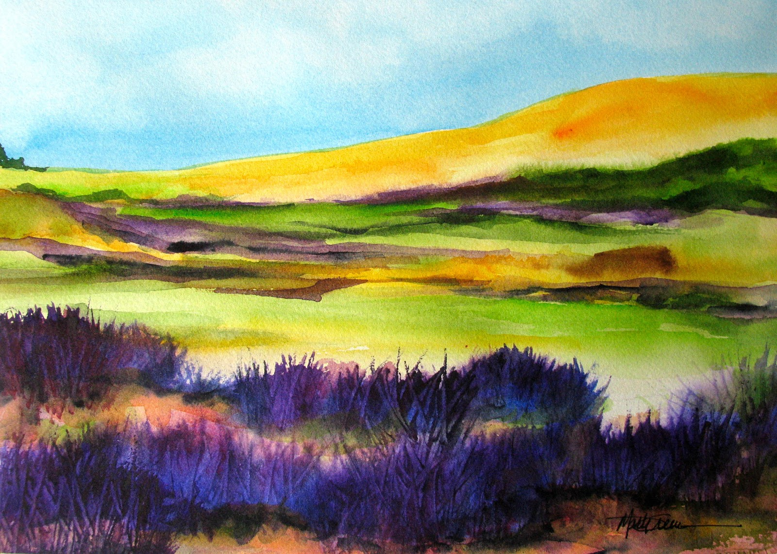 Marti green artist wet into wet watercolor painting for Paintings to copy