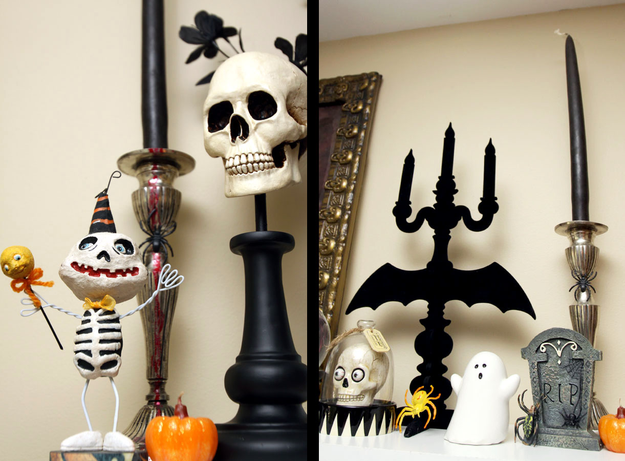 Blondeshot creative halloween shelf and decorations for B m halloween decorations