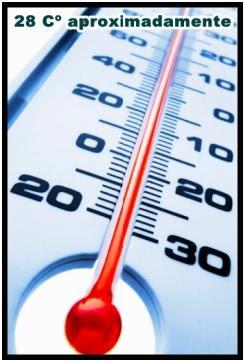 28 grados Celsius