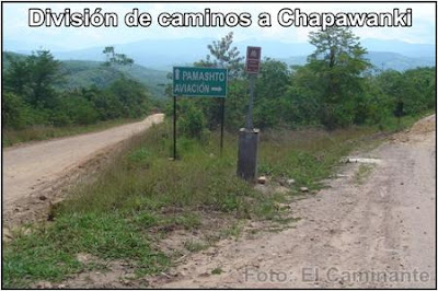 bifurcacion de la ruta a chapawanki (lamas, peru