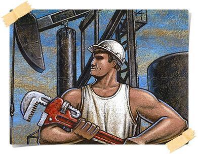 dibujo de un petrolero