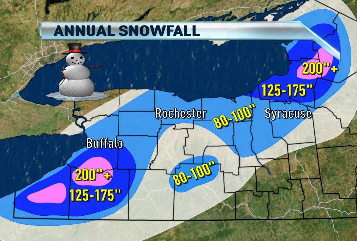 News 8 Weather Blog NY STATE ANNUAL SNOWFALL MAP