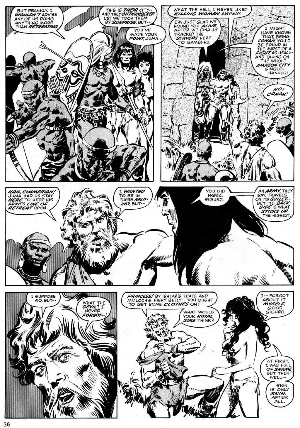 The Savage Sword Of Conan Issue #42 #43 - English 36