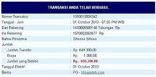 Pembayaran Bulan September 2010 Rp.1.058.262,00