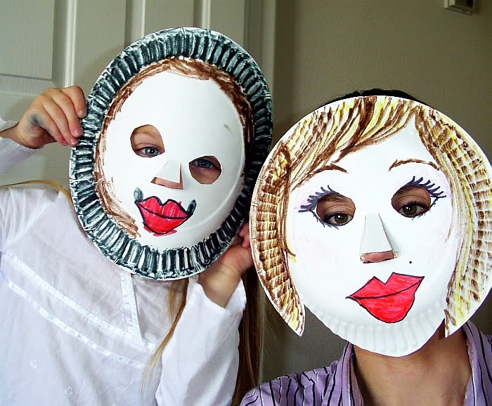 paper plate masks  u2013 diy kids craft
