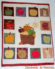 Mijn 1ste  appeltjes-wallhanging