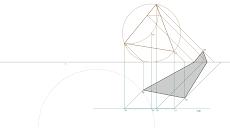 Sombra produzida por um triângulo frontal