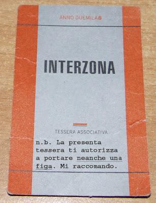 Tessera dell'Interzona di Verona, l'associazione culturale senza pheeghe