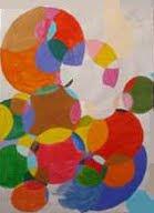 """""""Abstraccion con circulos"""" pintura"""