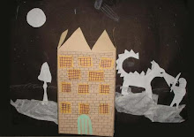 """Castillo"" Collage con caja y papel"