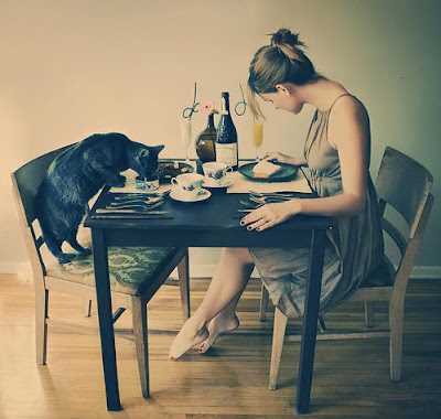 Women eating alone