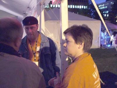Cat Leblanc, volunteer security. Joe Blades photo.