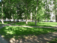 Photo of a park near Moscow State University