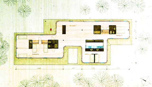 Drawing of Seynave Vacation House in Beauvallon, plan