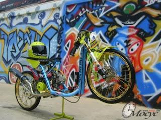 mio drag bike motor drag mio matik drag thailand stile, gambar motor mio modifikasi brondol