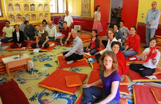 Rigpa Youth group in Lerab Ling
