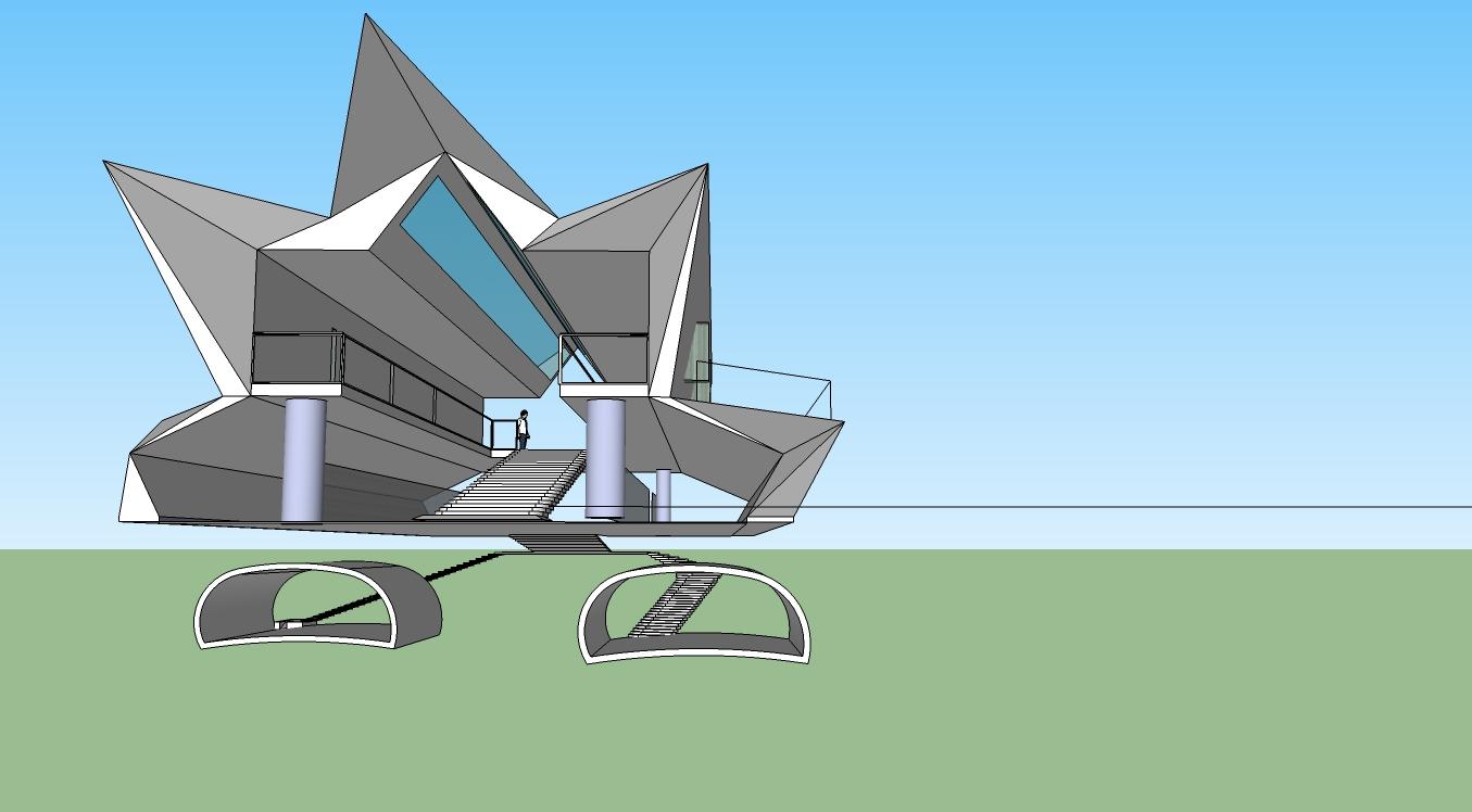 Arch 1101 architectural design studio 1 sketchup model for Architectural design with sketchup