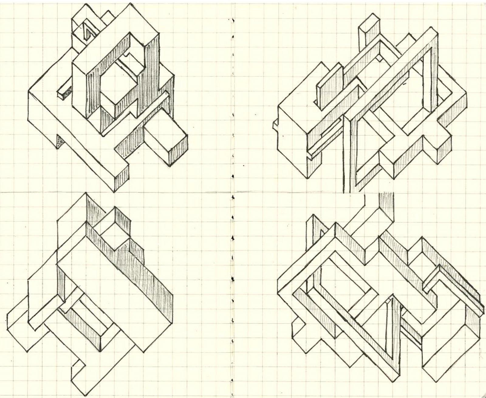 architectural design studio 1. 3 Pair Axonometric ARCH 1101  Architectural Design Studio 1