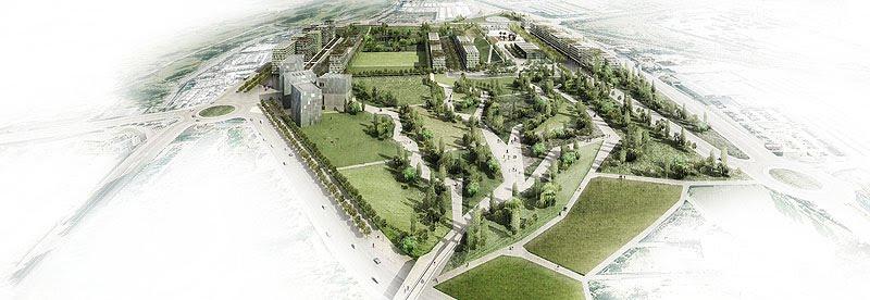 infografía de la remonta de Santander según los los arquitectos Joan Roig y Enric Batlle