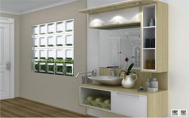 espelhos e banheiros