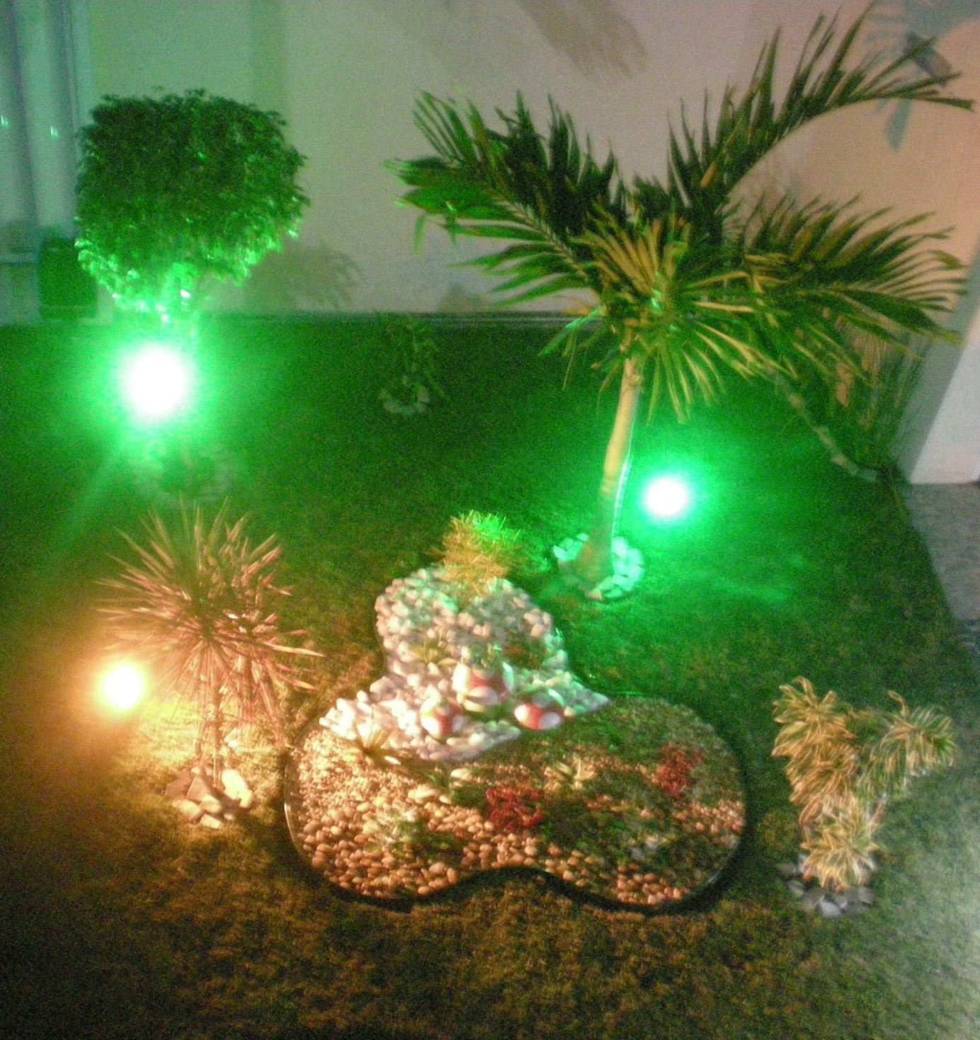 iluminacao jardim verde:Meus sapinhos fofos, presente do meu marido