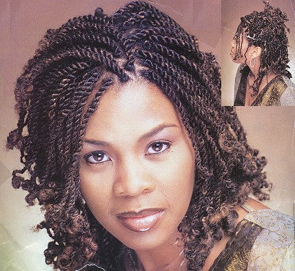 Nappy Hair Styles on Nappy From Madinina Extensions De Locks And Kinky Twist Femme Portant
