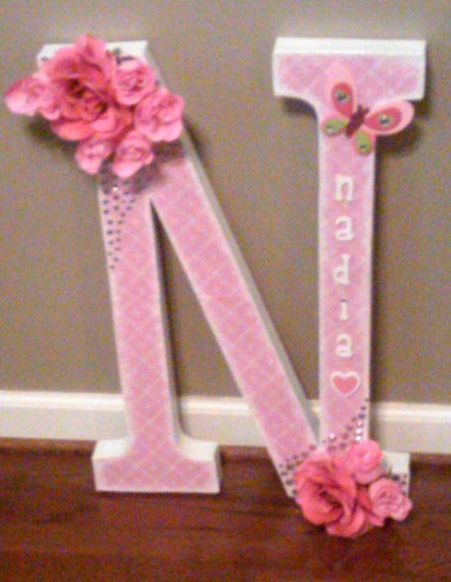 paper mch letter n diy projects by nina