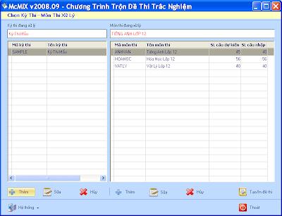 McMIX v2008.09 - Phần mềm trộn đề trắc nghiệm miễn phí tốt nhất