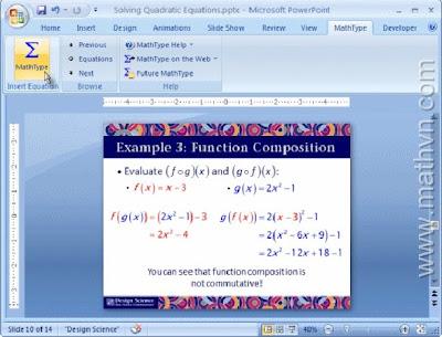 Hướng dẫn cài đặt và sử dụng phần mềm MathType 6.5