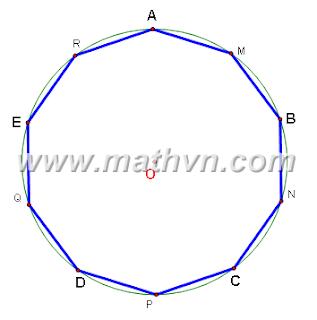 Dựng thập giác đều bằng thước thẳng và compa
