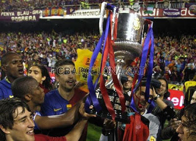 Bojan Krkic, Gerard Pique, Winner, Copa Del Rey, Final