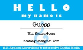 Hello My Name Is: Guess